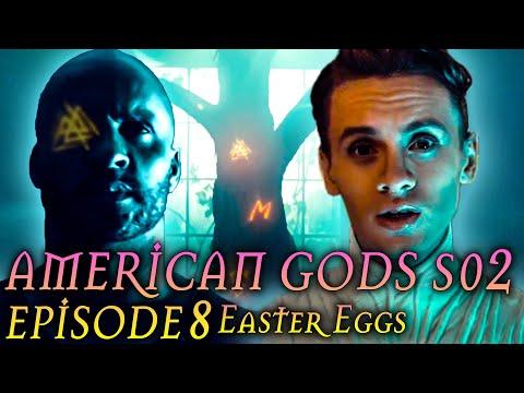 """American Gods Season 2 Episode 8 Finale Breakdown + Easter Eggs """"Moon Shadow"""""""