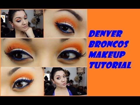 DIY: Denver Bronco Make Up and Nail air to try!!
