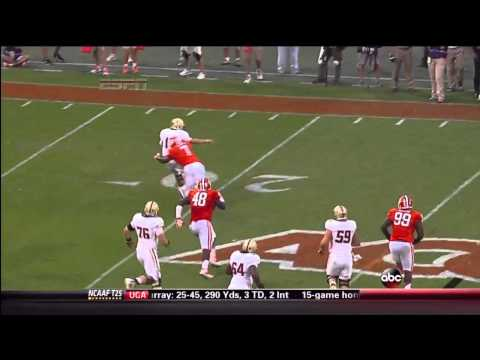 Vic Beasley fumble recovery TD vs Boston College 2013 video.