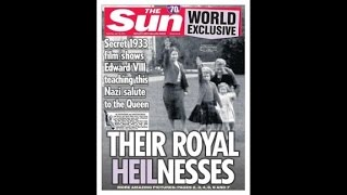 Queen as child giving Nazi salute