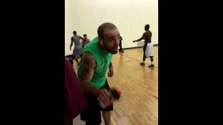 Noon Basketball turns into MMA Fight!! 0 to 100 REAL QUICK