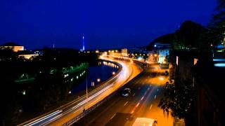 Timelapse Saarbrücken at night