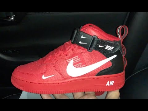 Nike Air Force 1 Mid Lv8 Red Sneaker