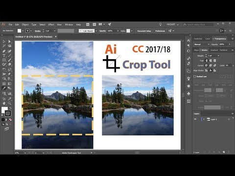 How To Crop Photos In Adobe Illustrator CC 2018 - The New Crop Image Tool
