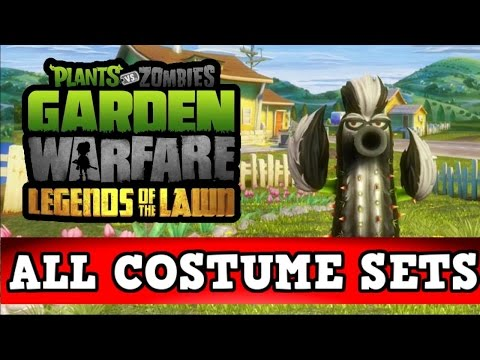 Plants vs Zombies Garden Warfare - ALL COSTUME SETS! Legends Of The Lawn DLC