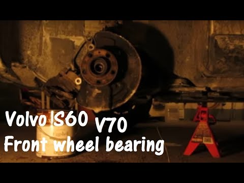 Volvo S60 wheel bearing (hub) removal