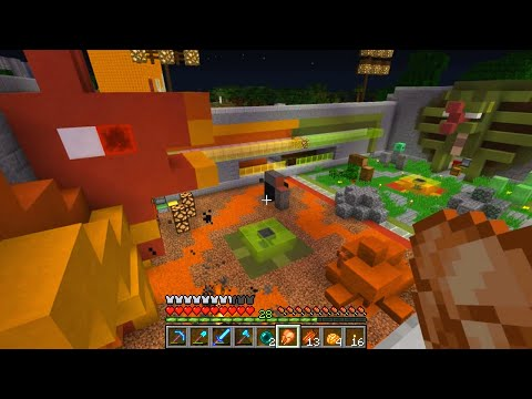 182 - Minecraft Survival. In this Minecraft episode we build a chasm obstacle for the horse track and then go for a quick tour of the server. MindCrack: http://www...