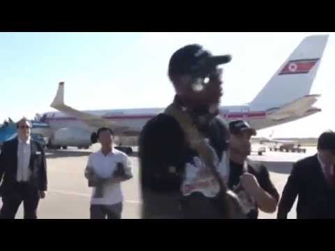 ▶ Dennis Rodman returns to North Korea second trip meets Kim Jong Un for Basketball League   YouTube