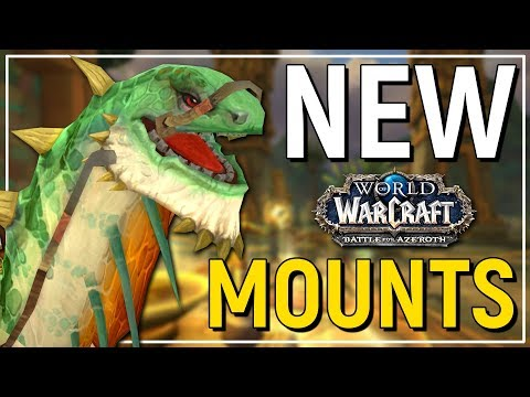MASSIVE DINO! The Epic New Mounts of Battle for Azeroth - World of Warcraft (видео)