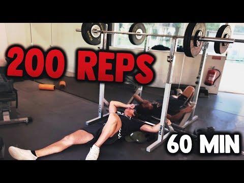 200 REP SQUAT CHALLENGE! (60 min) (видео)
