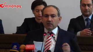 Nikol Pashinyan's first speech as a member of Yelk/Egress  dashing.