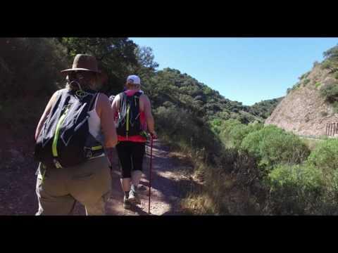 Icelanders on stage 25 of the Great Malaga Path (GR 249): Estaci�n de Benaojan - Jimera de L�bar