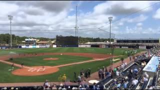 Baseball Spring Training Orioles vs Rays: Pregame to 1st inning in 60sec