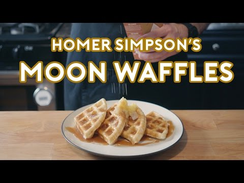 Chef Recreates Homer Simpson s Patented Space Age OutOfThisWorld Moon Waffles from The