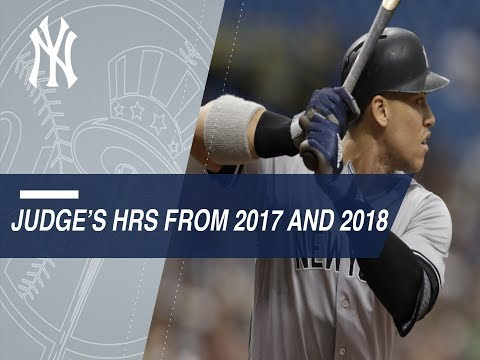 Aaron Judge's home runs from 2017 and 2018