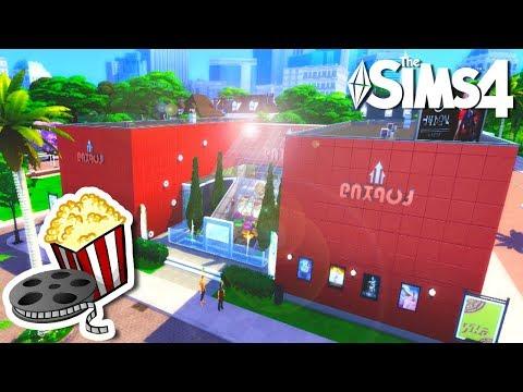 CINEMAXIS 😎🍿🎬 The Sims 4 Cinema (Movie Theater) Speed Build