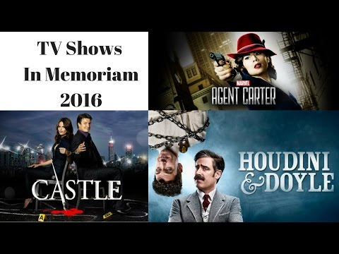In Memoriam 2016 TV Shows that ended or were cancelled