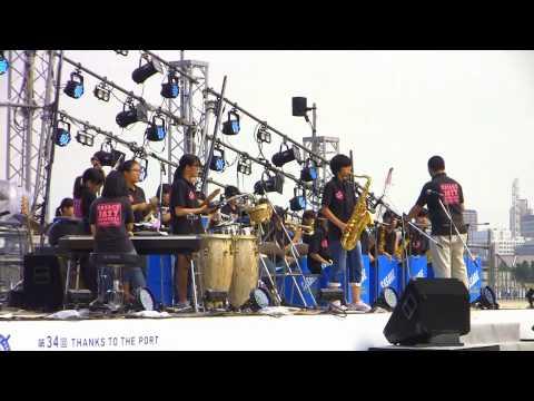 下中学校ジャズアンサンブル部①・meets JAZZ in 横浜開港祭2015