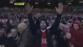 Henrik Larssons erster Treffer für Manchester United