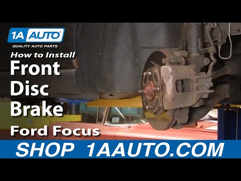 How To Replace Repair Install Front Disc Brakes Ford Focus 00-04 1AAuto.com
