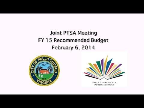 PTSA Budget Presentation