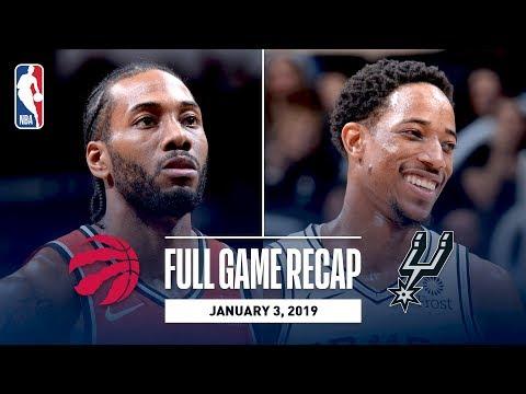 Video: Full Game Recap: Raptors vs Spurs   Kawhi Leonard Returns To San Antonio For The First Time