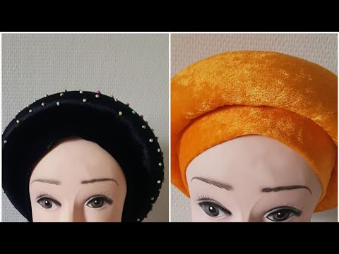 Stress Free Auto Gele Cap ( Made With Velvet And Foam). Check Next Video On How To Bead This Beauti