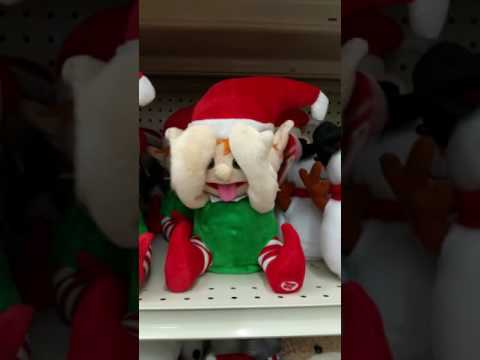 Tongue out Christmas elf