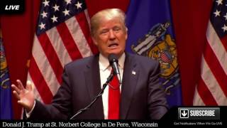 De Pere (WI) United States  city images : LIVE Donald Trump De Pere Wisconsin Green Bay Rally St. Norbert's College Walter Theatre S