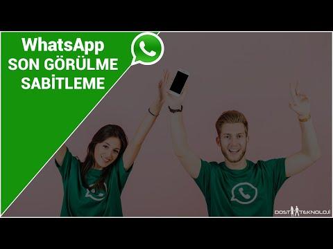 WhatsApp Son Görülme Dondurma | Son Görülme Sabitleme