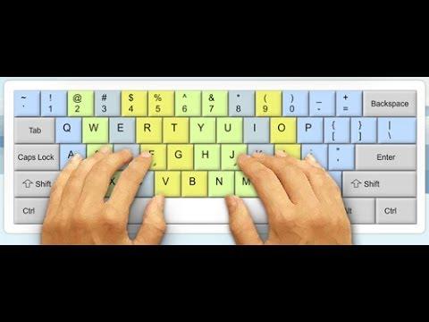 Hướng dẫn tập gõ 10 ngón tay - Thời lượng: 2 phút.