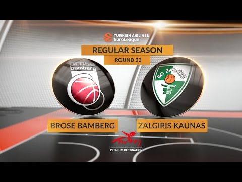 EuroLeague Highlights RS Round 23: Brose Bamberg 86-91 Zalgiris Kaunas