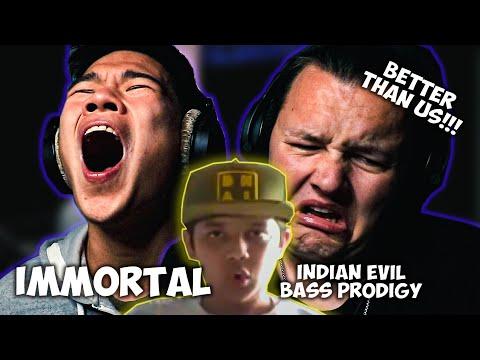 CHEZAME & SXIN React | IMMORTAL 🇮🇳 | Indian Evil Bass Prodigy 😱