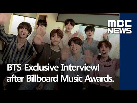BTS Exclusive Interview! after Billboard Music Awards. Only at MBC News