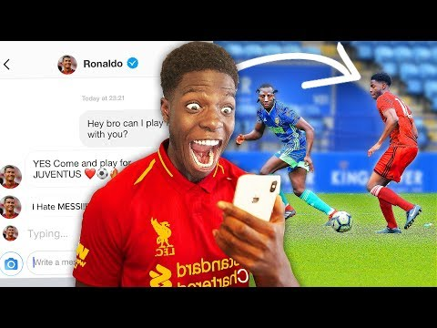 I Sent A DM To 100 FOOTBALLERS To Join Their Team & IT WORKED ft Ronaldo, Hazard & Pogba