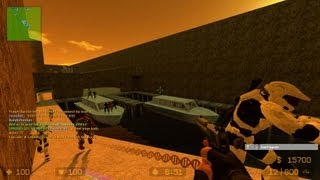 Counter Strike Source Zombie Escape mod online gameplay on ze_echo_Boatescape_extended map