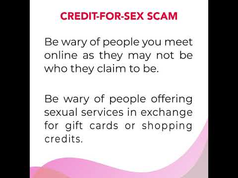Don't be fooled by Credit-for-Sex Scam!