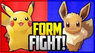 Partner Pikachu vs Partner Eevee | Pokémon Form Fight (Pokémon Let's Go) by Ace Trainer Liam