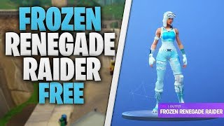*NEW* How To Get The Frozen Renegade Raider For FREE In Fortnite Battle Royale - (Tips and Tricks)