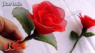 DIY Rose Stocking Flower for Valentine's Day Gift Idea | How to make | JK Arts 091