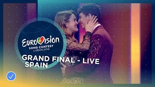 Video Amaia y Alfred - Tu Canción - Spain - LIVE - Grand Final - Eurovision 2018 MP3, 3GP, MP4, WEBM, AVI, FLV September 2018