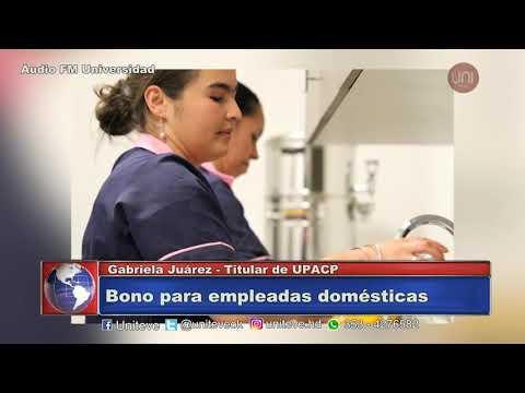 Confirmado.Las empleadas domésticas cobrarán un bono