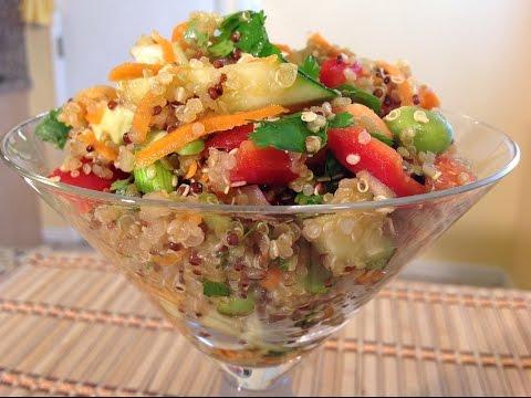 How To-Asian Quinoa Salad & Dressing-Vegan-Vegetarian Food Recipes
