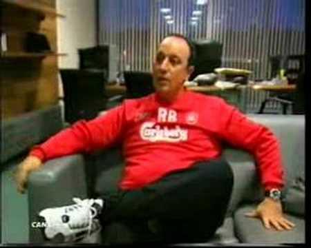Rafa Benitez en el Liverpool