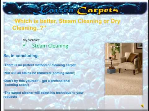 Carpet Cleaning – Steam Cleaning vs. Dry Cleaning your carpets