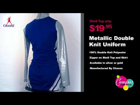 campusteamwearvideos - Chasse's new double knit uniform shell top(420PTM) is constructed of high quality double knit metallic material, features a straight bottom a side zipper for...