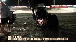 ASCS 305 Winged Sprint Flip - SNMS 10/4/2014