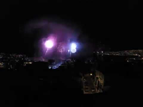 , title : 'New Year 2014-2015 fireworks from the innervycs office in Valparaiso'
