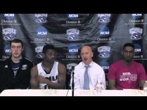 CNU Post Game Press Conference vs. Lycoming - March 4, 2016