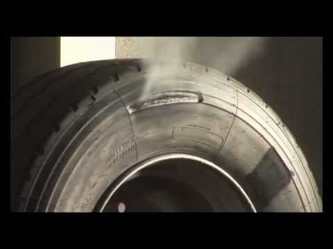 tyres - This video footage was captured by ATS Euromaster to show the catastrophic effects of inflating a truck tyre which has previously suffered run-flat damage. I...